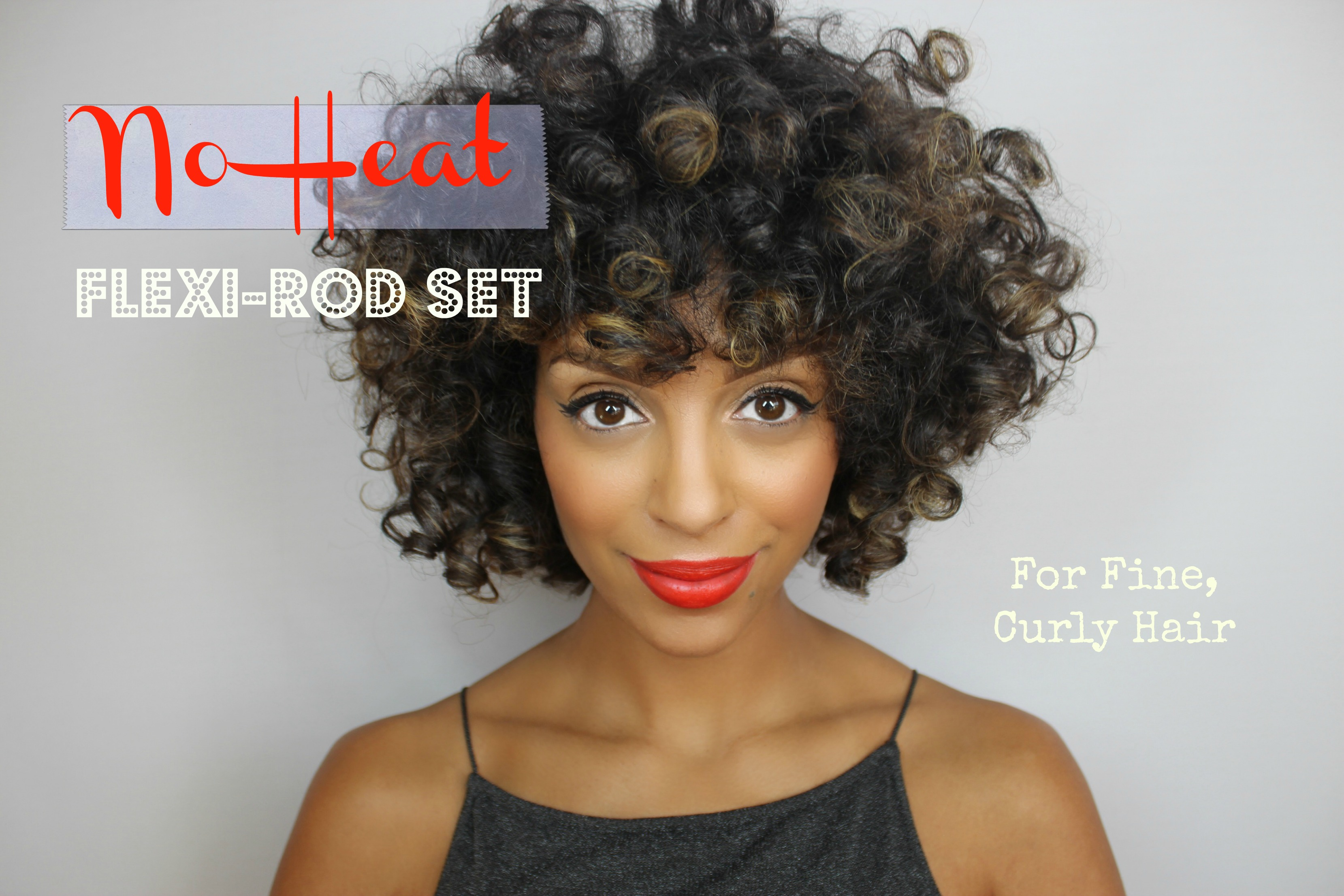 No Heat Flexi Rod Set On Fine Curly Hair Melting Pot Beauty