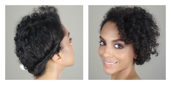 Casual Updo For Naturally Curly Hair